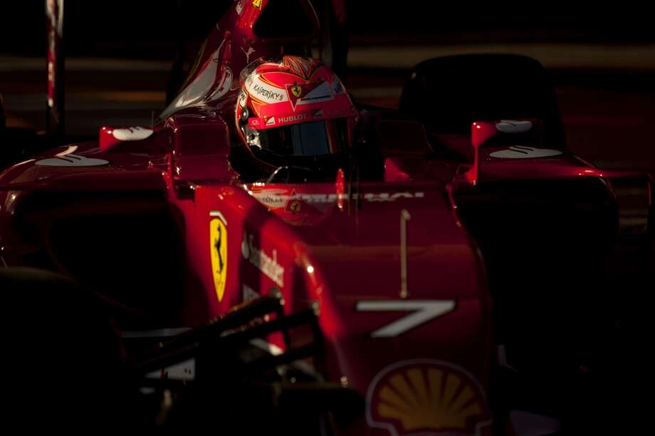 Ferrari's Finnish driver Kimi Raikkonen drives during day one of the Formula One testing at Jerez racetrack in Jerez. Photo: JORGE GUERRERO, AFP/Getty Images