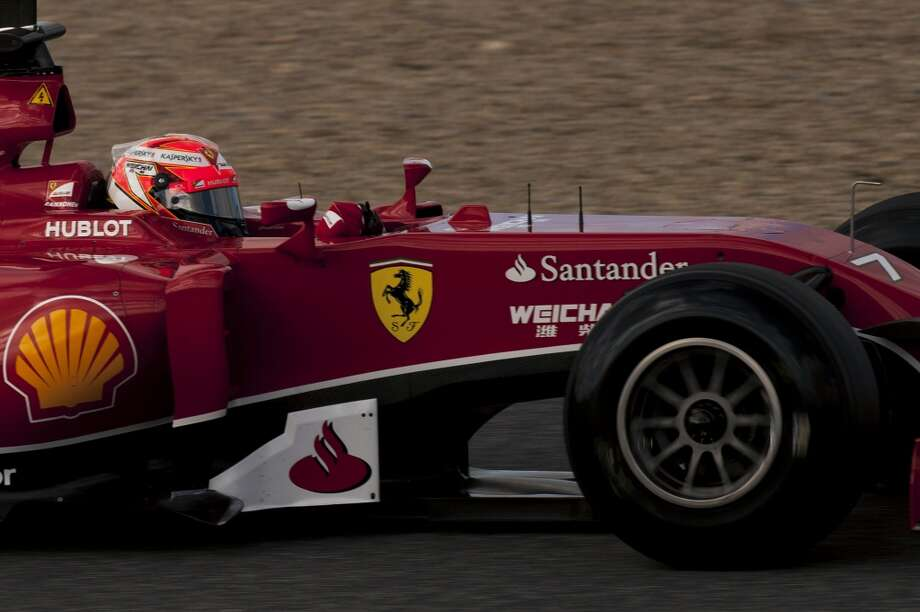 Ferrari's Finnish driver Kimi Raikkonen takes part in the Formula One pre-season test days at Jerez racetrack in Jerez. Photo: JORGE GUERRERO, AFP/Getty Images