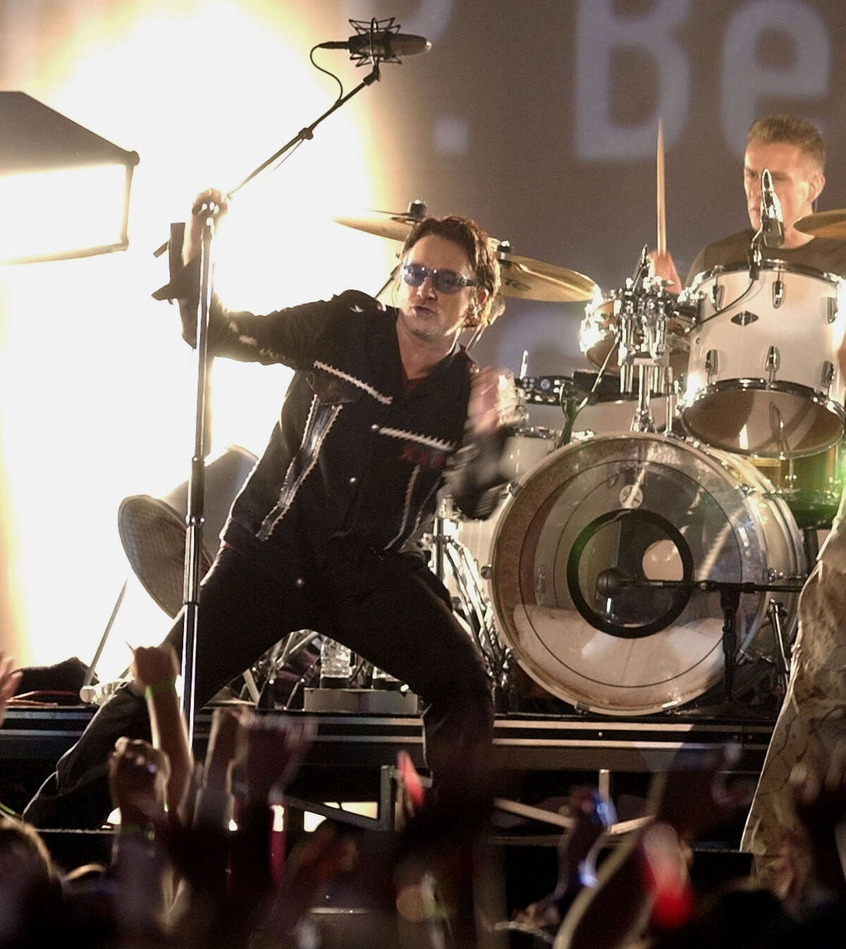 In 2002, just months after the tragedy of 9/11, Bono and U2 delivered a Super Bowl halftime show that was joyous, emotional and powerful.