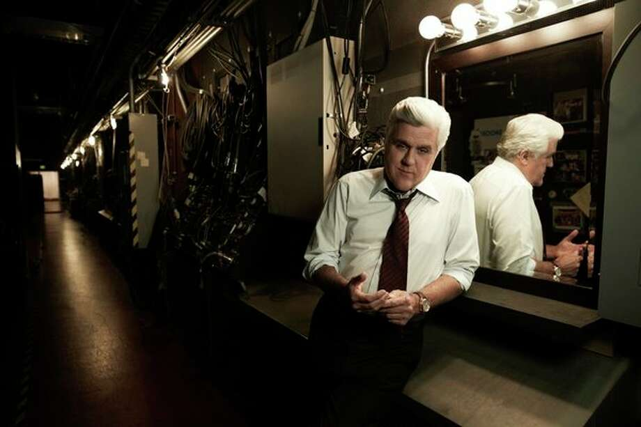 Jay Leno takes a bow as host of The Tonight Show, Thursday, Feb. 6 at 10:30 p.m. Photo: NBC, Jeff Riedel/NBC / 2012 NBCUniversal Media, LLC