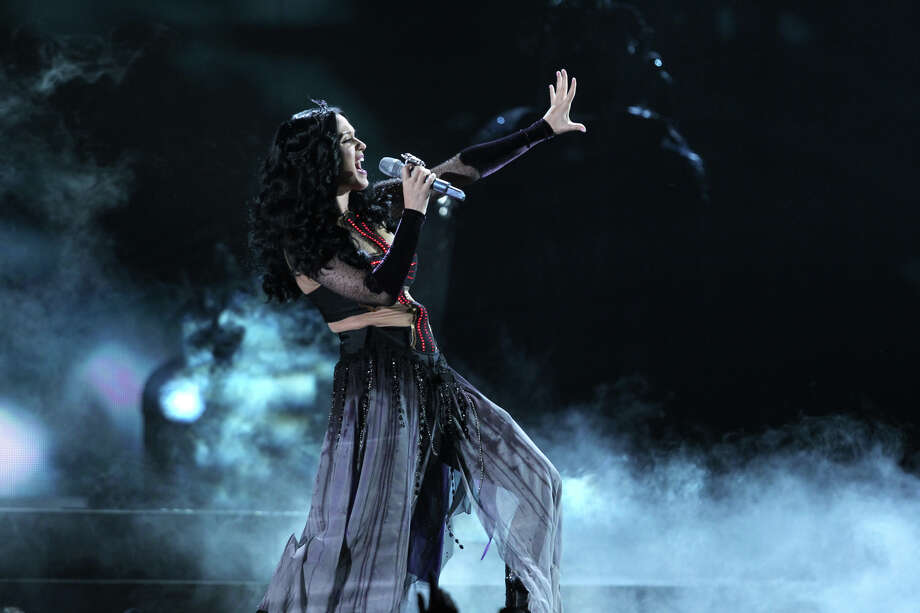 by Katy Perry. Bewitching black magic from a usually effervescent songstress. Photo: CBS Photo Archive, CBS Via Getty Images / 2014 CBS Photo Archive