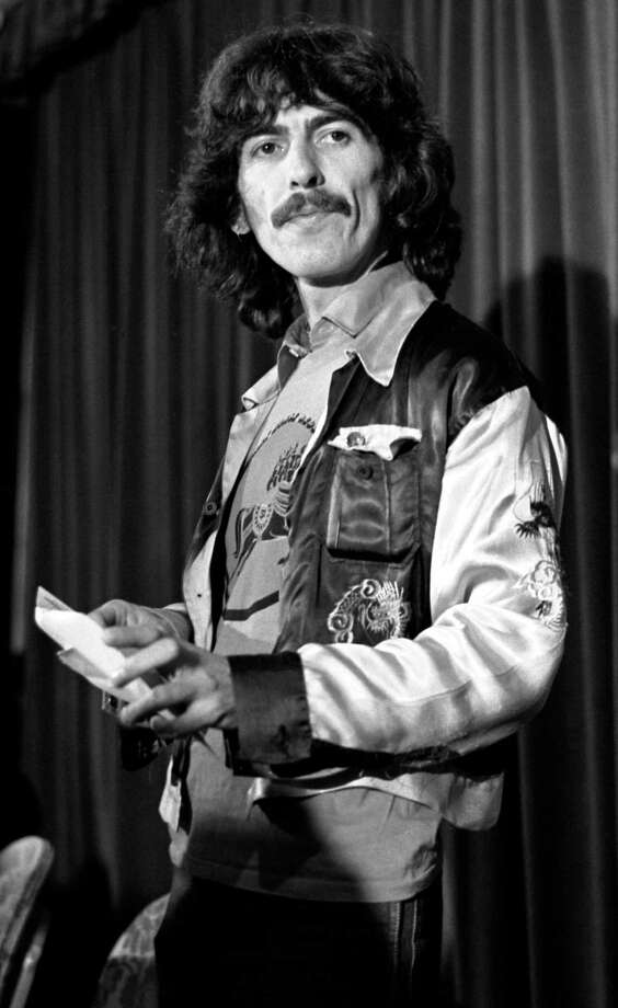 George Harrison (The Beatles) at Dark Horse Records press conference in Beverly Wilshire Hotel, Beverly Hills, CA October 23, 1974; Various Locations; Mark Sullivan 70's Rock Archive; Beverly Hills; CA. Photo: Mark Sullivan, Contour By Getty Images / Hulton Archive