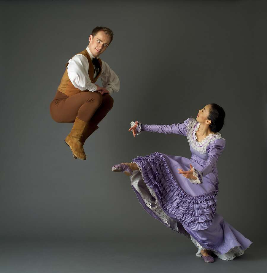 "Tadej Brdnik and Miki Orihara perform ""Appalachian Spring."" Photo: John Deane"