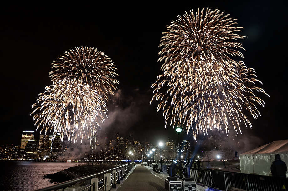 A view of the Macy's Fireworks during the Super Bowl Kickoff Spectacular at Liberty State Park on January 27, 2014 in Jersey City, New Jersey. Photo: D Dipasupil, FilmMagic / 2014 D Dipasupil
