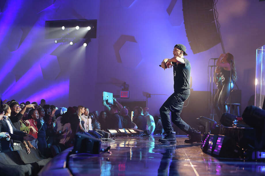 """J. Cole performs during VH1's """"Super Bowl Blitz: Six Nights + Six Concerts"""" at Kupferberg Center for the Arts, Queens College on January 27, 2014 in the Queens borough of New York City. Photo: Al Pereira, Getty Images / 2014 Al Pereira"""