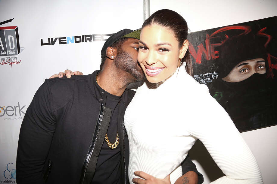 (L-R) Jason Derulo and Jordin Sparks attend Jordin Sparks & Jason Derulo Welcome to New York Red, White and Black Super Bowl Party at WIP on January 29, 2014 in New York City. Photo: Johnny Nunez, FilmMagic / 2014 Johnny Nunez