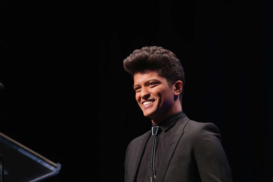 Bruno Mars attends the Pepsi Super Bowl XLVIII Halftime Show Press Conference at Rose Theater, Jazz at Lincoln Center on January 30, 2014 in New York City. Photo: Al Pereira, FilmMagic / 2014 Al Pereira