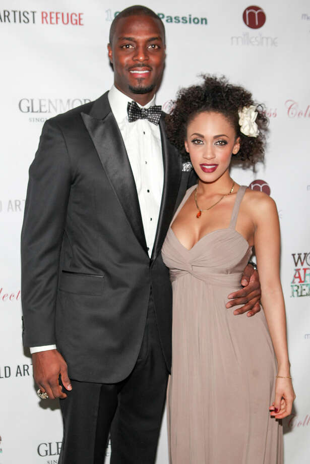 Plaxico Burress and Phylisia Ross attend Plaxico Burress' Pre-Super Bowl Gala at Salon Millesime on January 30, 2014 in New York City. Photo: Steve Zak Photography, WireImage / 2014 Steve Zak Photography