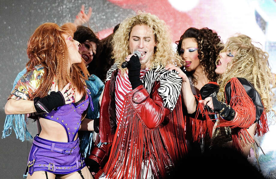 """The cast of """"Rock of Ages"""" performs at Super Bowl Boulevard on January 30, 2014 in New York City. Photo: Daniel Zuchnik, Getty Images / 2014 Daniel Zuchnik"""