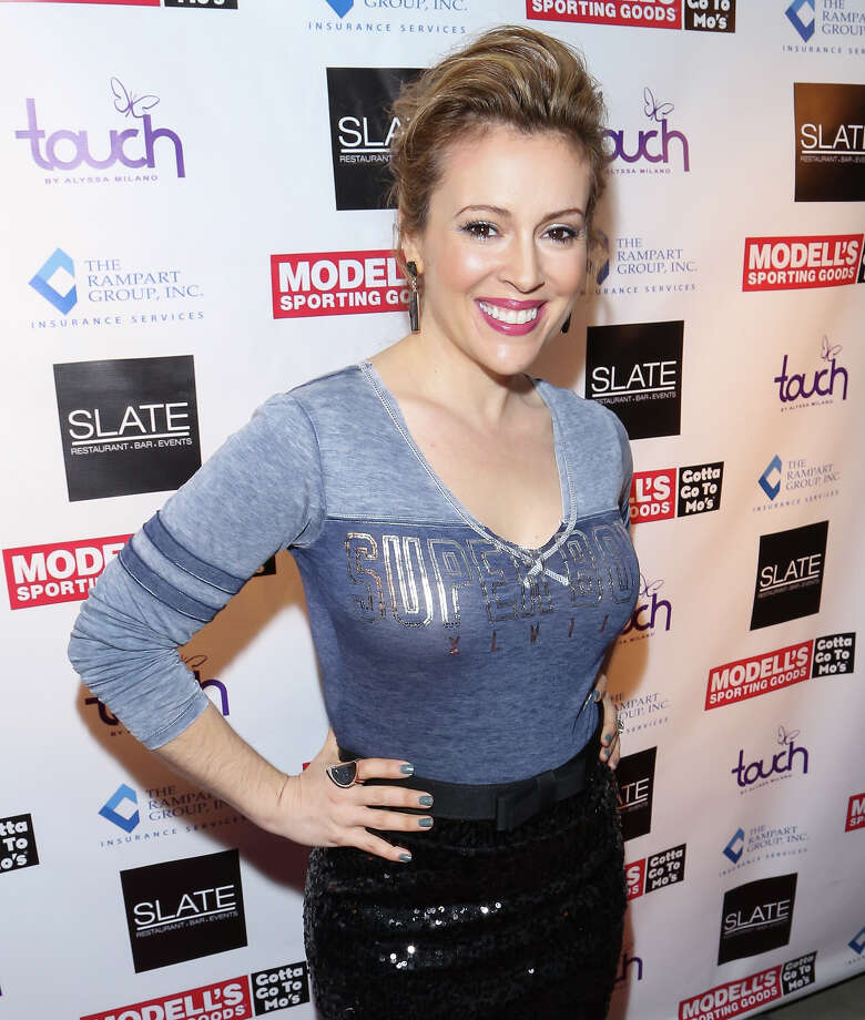 Actress Alyssa Milano attends Modell's Super Bowl Kickoff Party & Touch By Alyssa Milano Fashion Show at Slate on January 30, 2014 in New York City. Photo: Charles Norfleet, FilmMagic / 2014 Charles Norfleet
