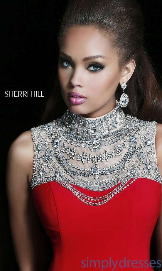 Looking for something embellished? Be sure to try this Sherri Hill gown!