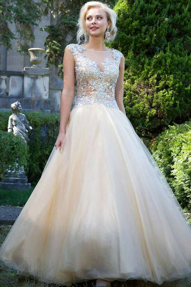 If you'd like something with a bit more volume, this Jovani gown is perfect for you!