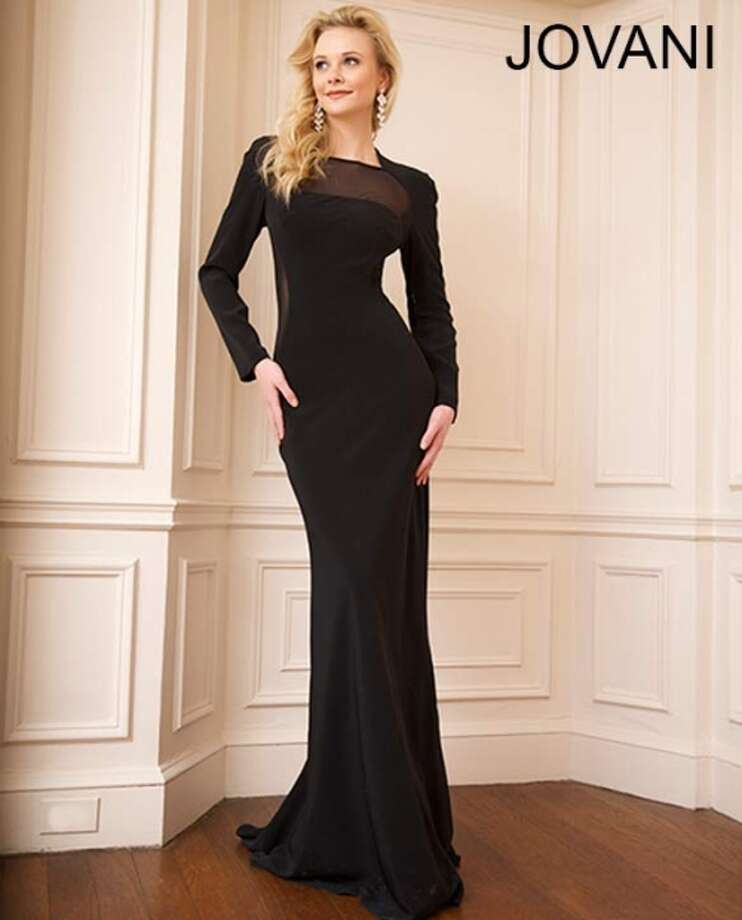 Make a statement in this long sleeved gown! With  a simple gold necklace and red lips you'll feel like a million bucks! (Available through Jovani)