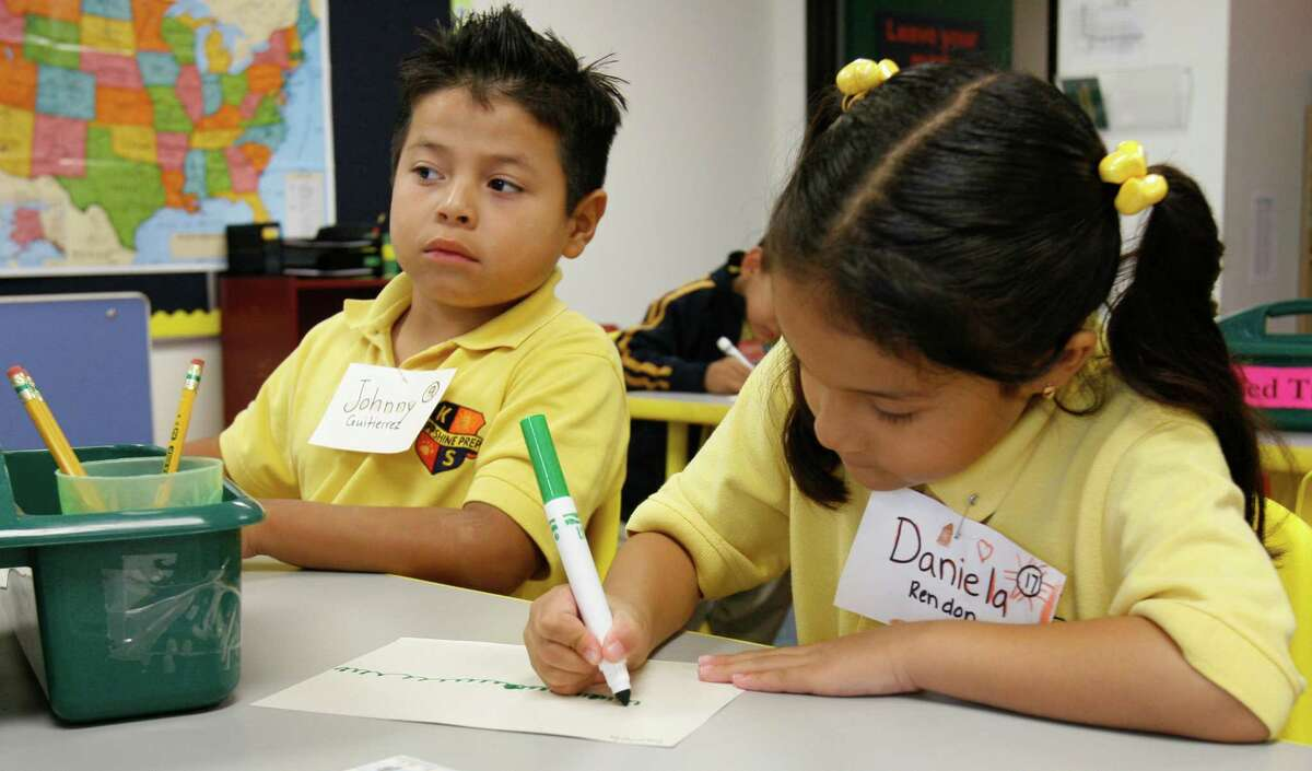 Johnny Gutierrez, left, and Daniela Rendon, took part in an early education program at the KIPP schools in Houston. Research shows the time before a child turns 5 is crucial in developing their environment for learning.