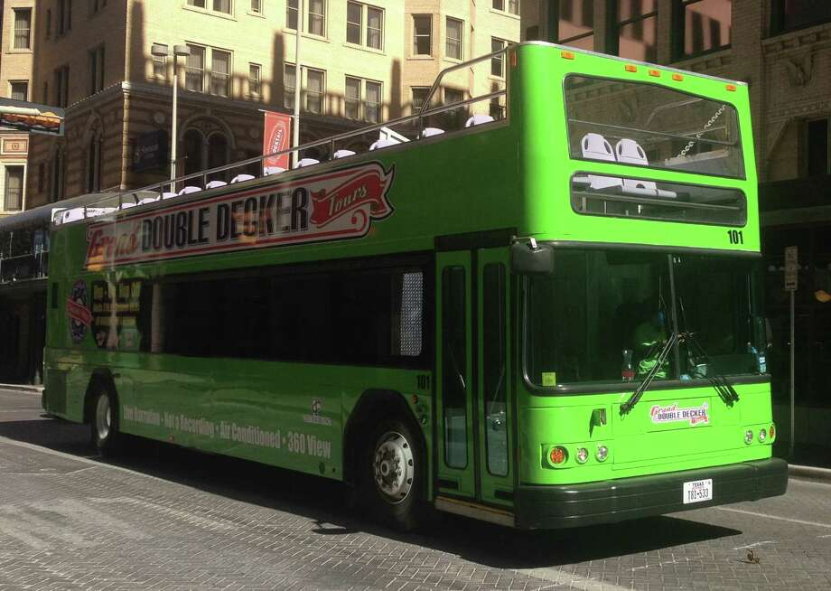 Grand Double Decker Tours started operating downtown a few weeks ago. Photo: Benjamin Olivo / San Antonio Express-News
