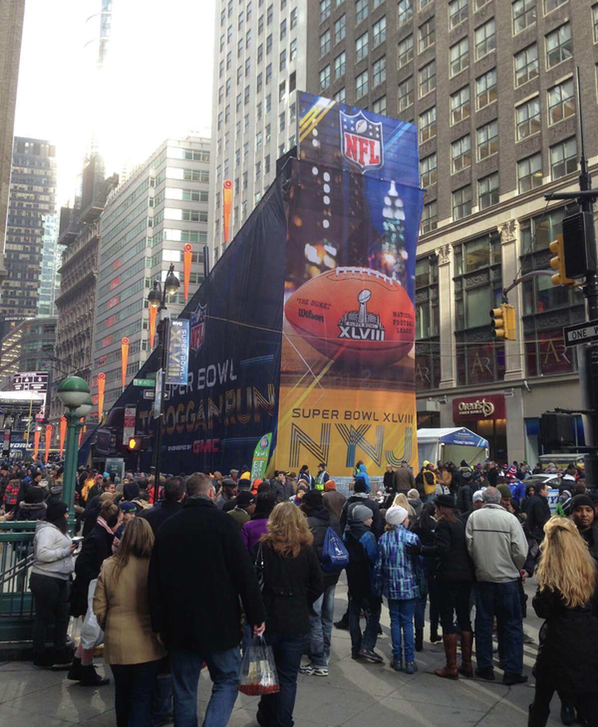 Scenes from Super Bowl Boulevard, aka Broadway, in New York on Friday, Jan. 31, 2014.