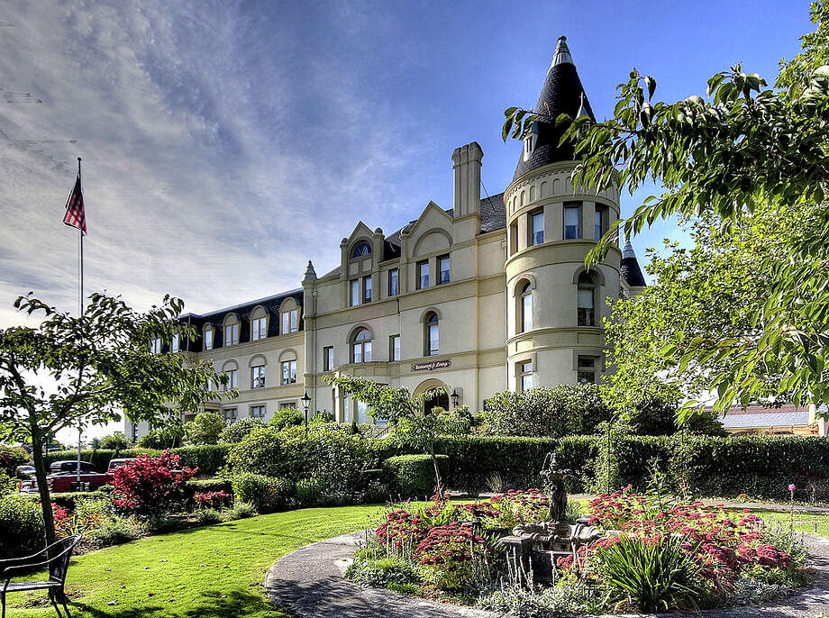 """Exterior and grounds of Manresa Castle,"""" 651 Cleveland St., in Port Townsend. It's listed for $3.4 million. Photo: Michael D Martin/Courtesy Charles Arthur, RE/MAX FIRST, Inc."""