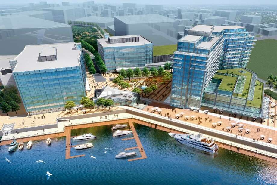 Buildings in the first phase of Antares's South End project include a hotel, office buildings, retail space, restaurants, and two esplanades along Stamford Harbor. contributed image Harbor Point Antares Photo: File Photo / Stamford Advocate File Photo