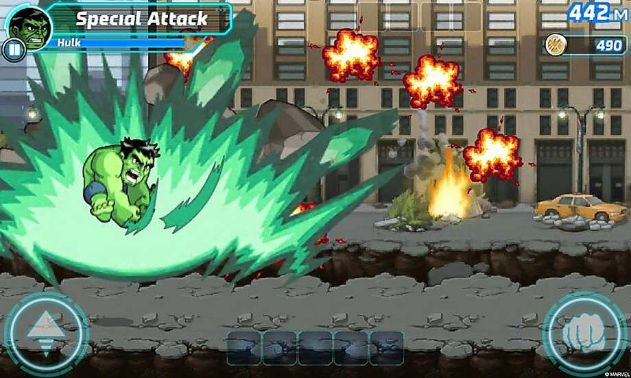 Marvel Run Jump Smash, a mobile game for both iOS and Android featuring your favorite Avengers characters. Photo: Marvel