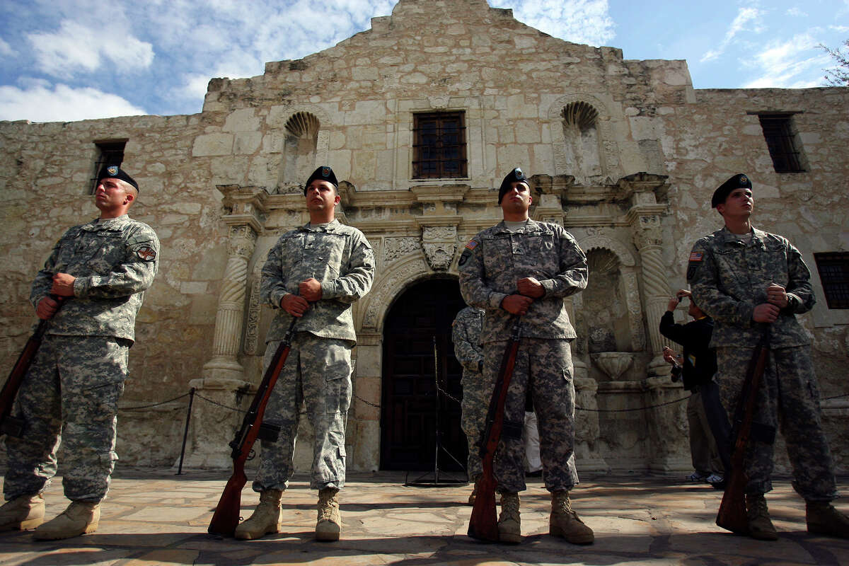 Since its founding, the settlement of what is now San Antonio has been a bastion of intermingled civilian and military life; in fact, it is also known by its moniker, Military City USA, because of the connection. How much do you know about the history of the military in San Antonio? Try your hand at answering these questions.PHOTO: The firing squad prepares for a salute during the recognition ceremony in Alamo Plaza that opened the San Antonio Veterans Day Parade on Nov. 7, 2009.