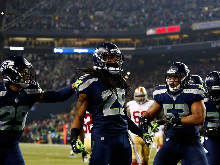Seattle cornerback Richard Sherman must disguise his coverages against Denver. Photo: Jonathan Ferrey, Getty Images