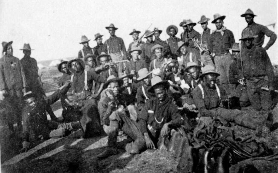 """Answer: The name refers to African American soldiers of the 9th and 10th Cavalry and 38th, 39th, 40th, and 41st Infantry Regiments in the West after the Civil War. Herman Lehmann, in his book, Nine Years Among the Indians, said the Apache called them Buffalo Soldiers because """"they had curly, kinky hair ... like bison.""""Herman Lehmann was famous for having been taken captive by the Apache Indians at age eleven (1870). After several years with them and becoming a warrior, he joined the Comanche. In 1878 he was forced to return to his family, but never quite adjusted, occasionally returning to his Indian friends.PHOTO: Segregated company of United States soldiers (Buffalo Soldiers) in 1898 during the Spanish-American war. Photo: UniversalImagesGroup, Getty Images / Universal Images Group Editorial"""