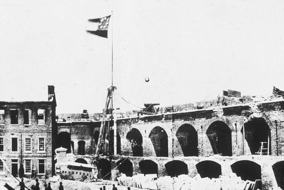 Question No. 7: It is said that the Civil War began with the assault on Fort Sumter, South Carolina, by Confederate forces and ended with the surrender of General Robert E. Lee's forces at Appomattox. But events in Texas both preceded and followed these events. What were they? PHOTO: Fort Sumter flies the Confederate flag on  April 4, 1861. Photo: Kean Collection, Getty Images / 2003 Getty Images