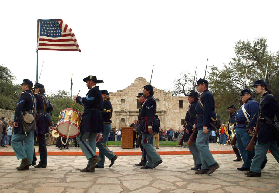 Answer: Some twenty-six days before the surrender of Fort Sumter on March 14, 1861, a group of 300 to 400 men authorized by the State of Texas and led by Ben McCulloch, occupied Military Plaza in downtown San Antonio.