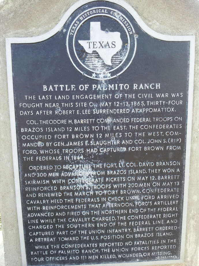 On May 13, 1865, more than a month after the surrender of General Lee, the last engagement of the Civil War took place at Palmito Ranch near Brownsville.