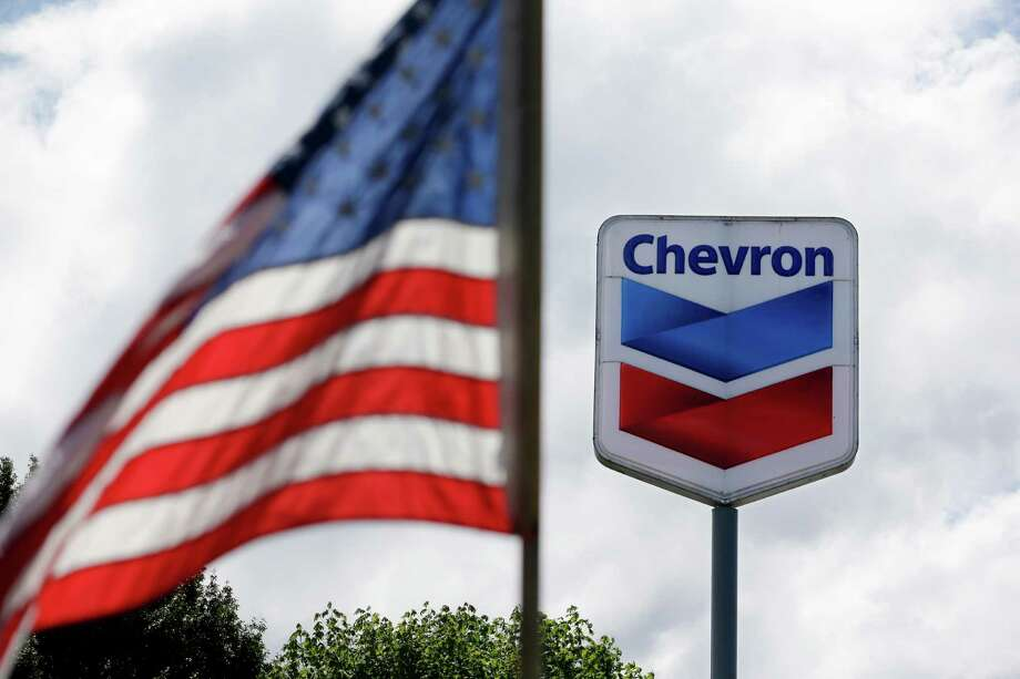 Chevron Corp. said its domestic production fell 4 percent in the fourth quarter. Photo: Elaine Thompson, STF / AP