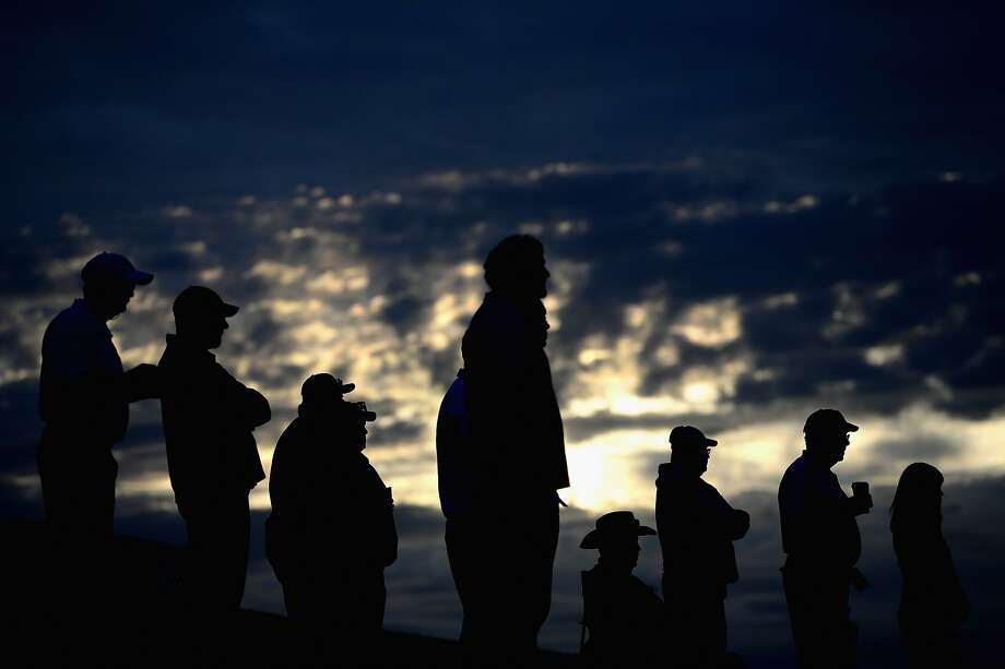 SCOTTSDALE, AZ - JANUARY 31: Fans watch the first tee time take off during the second round of the Waste Management Phoenix Open at TPC Scottsdale on January 31, 2014 in Scottsdale, Arizona.  (Photo by Patrick Smith/Getty Images) Photo: Patrick Smith, Getty Images