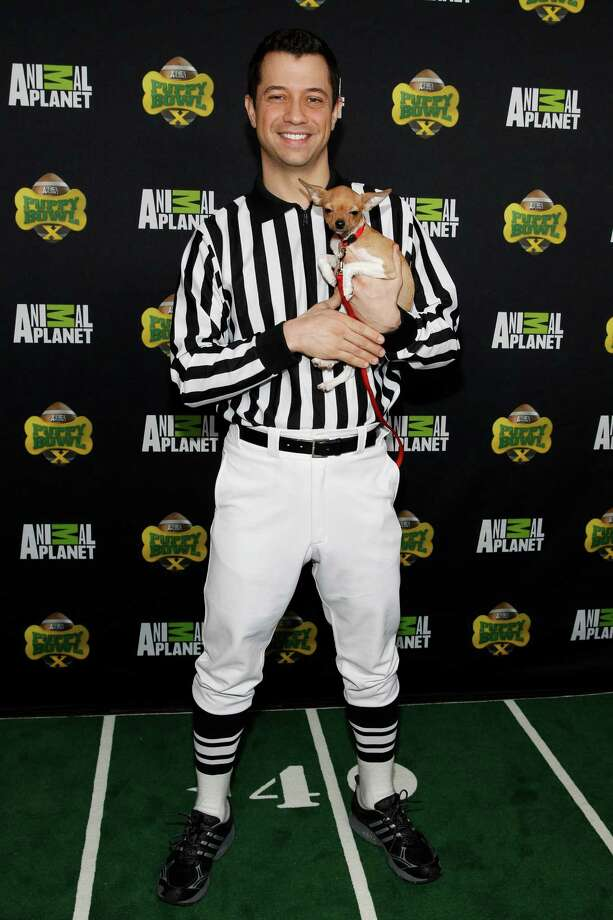 IMAGE DISTRIBUTED FOR DISCOVERY COMMUNICATIONS -  Puppy Bowl Referee, Dan Schachner attends Puppy Bowl X at the Discovery Times Square Experience in New York on Tuesday, Jan. 28, 2014. (Mark Von Holden/AP Images for Discovery Communications) Photo: Mark Von Holden, Associated Press / AP Images