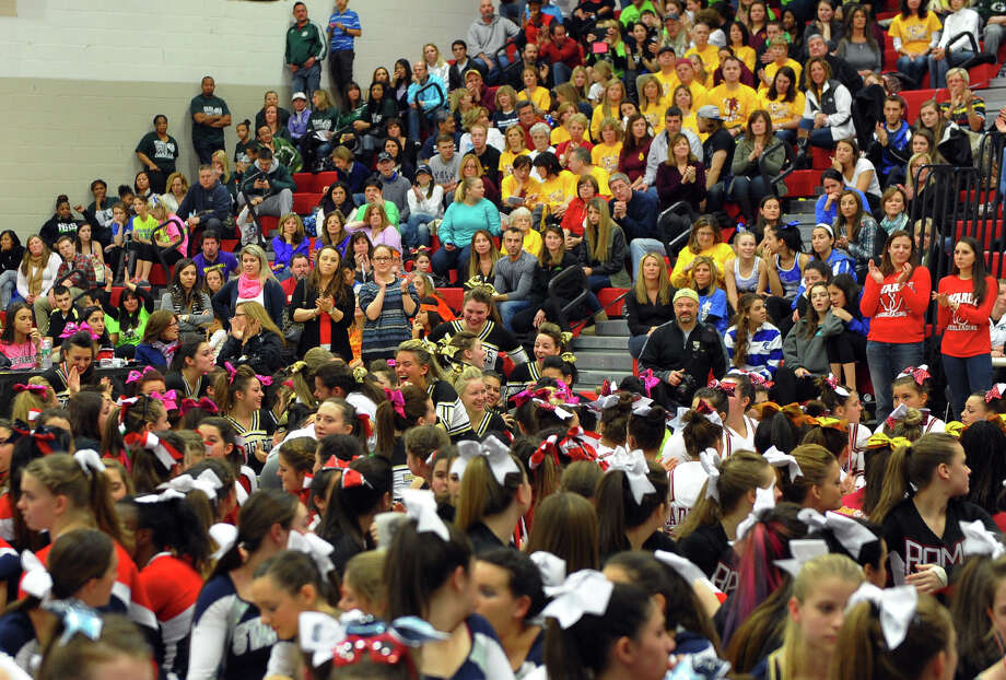 The 17th Annual 2014 FCIAC Cheerleading Competition at Fairfield Warde High School in Fairfield, Conn. on Saturday February 1, 2014. Photo: Christian Abraham / Connecticut Post