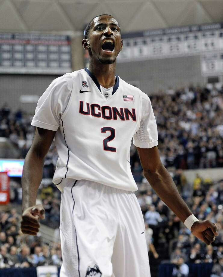 Connecticut's DeAndre Daniels reacts during the first half of an NCAA college basketball game against Florida, Monday, Dec. 2, 2013, in Storrs, Conn. Photo: Jessica Hill, AP / Associated Press