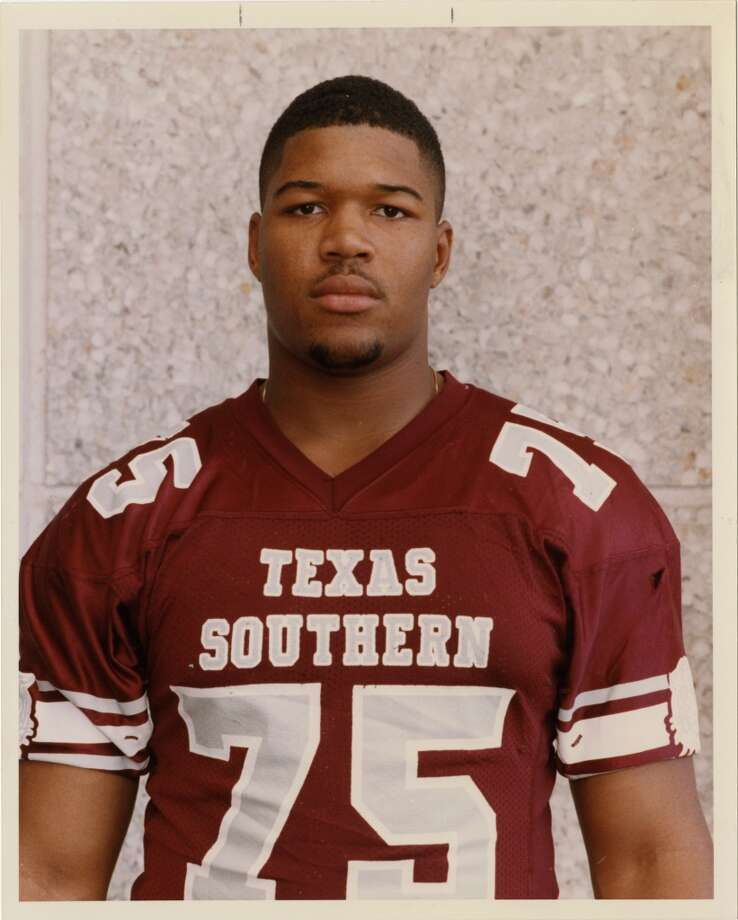 Michael Strahan during his college days at Texas Southern. Photo: File Photo, Houston Chronicle