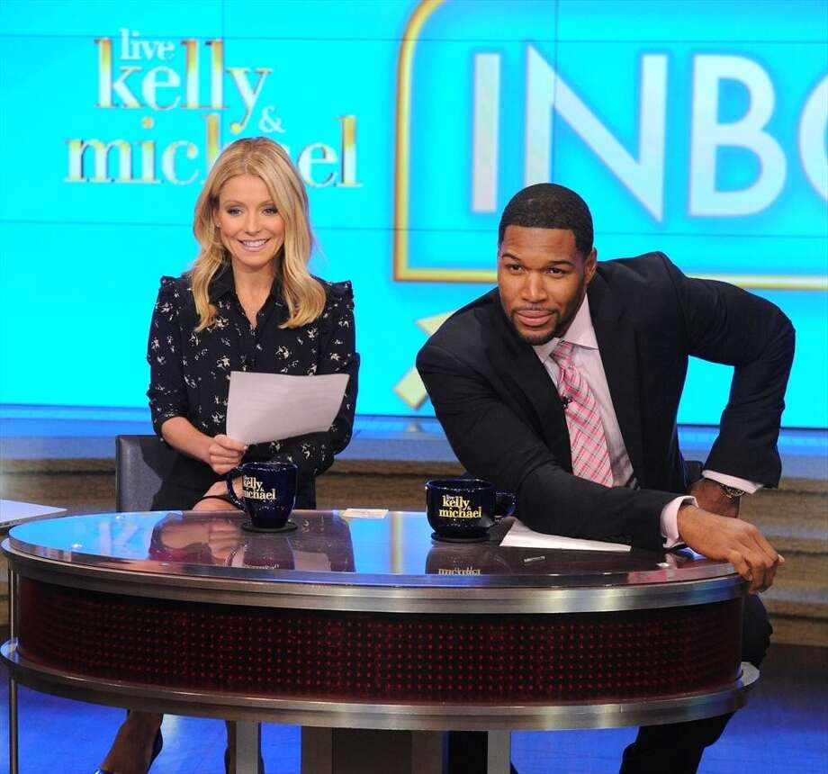 "Michael Strahan's second television job is co-hosting ""Live with Helly and Michael"" with television personality Kelly Ripa. Photo: David Russell, Disney-ABC / ONLINE_YES"