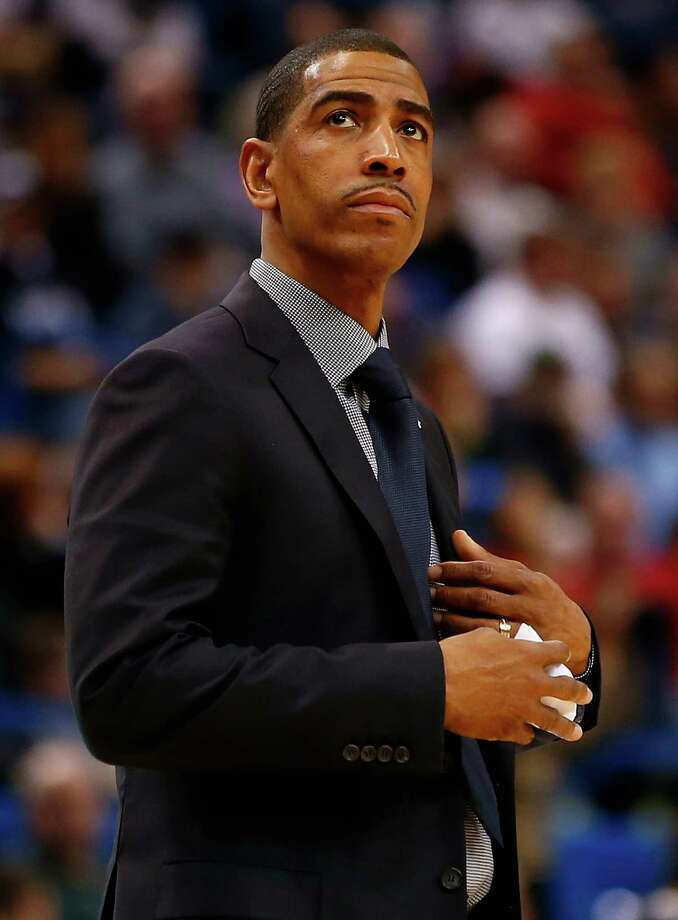 HARTFORD, CT - DECEMBER 18:  Head coach Kevin Ollie of the Connecticut Huskies looks on in the second half against the Stanford Cardinal during the game at XL Center on December 18, 2013 in Hartford, Connecticut. Photo: Jared Wickerham, Getty Images / 2013 Getty Images