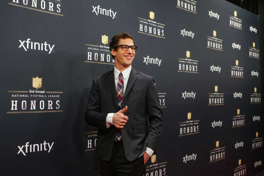 Actor and comedian Andy Samberg gives s thumbs up during the NFL Honors pre-event red carpet on Saturday, February 1, 2014 at Radio City Music Hall in New York City. Photo: JOSHUA TRUJILLO, SEATTLEPI.COM / SEATTLEPI.COM
