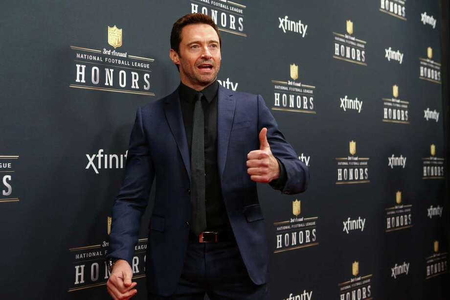 Actor Hugh Jackman walks the red carpet before the NFL Honors awards ceremony on Saturday, February 1, 2014 at Radio City Music Hall in New York City. Photo: JOSHUA TRUJILLO, SEATTLEPI.COM / SEATTLEPI.COM
