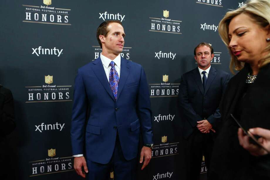 Saints quarterback Drew Brees walks the red carpet before the NFL Honors awards ceremony on Saturday, February 1, 2014 at Radio City Music Hall in New York City. Photo: JOSHUA TRUJILLO, SEATTLEPI.COM / SEATTLEPI.COM