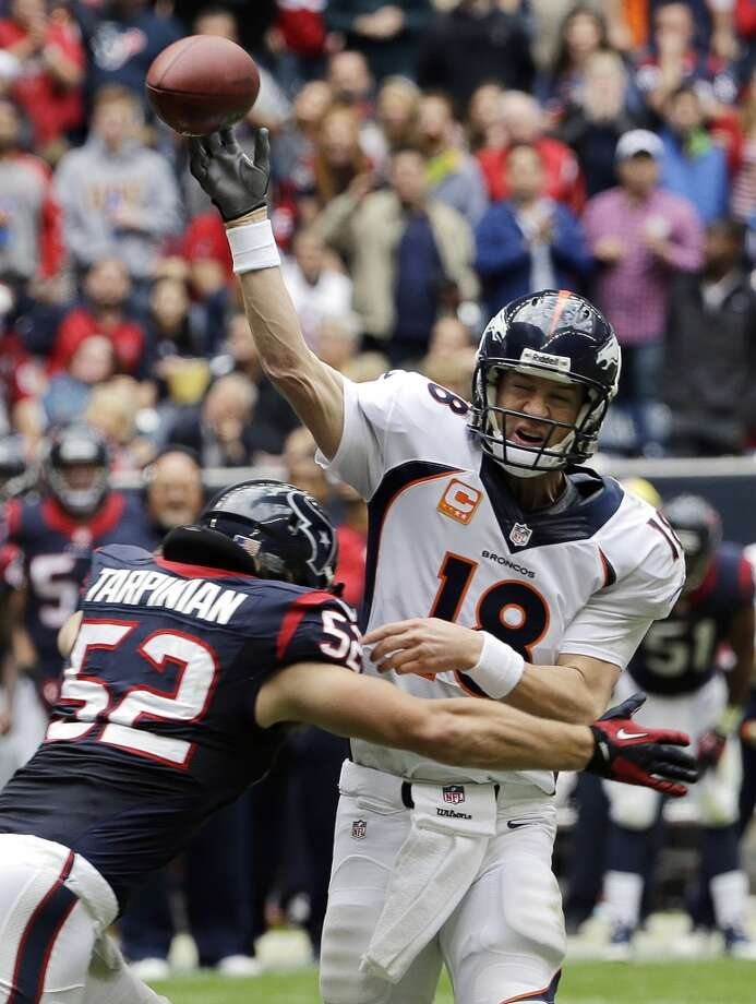 AP Offensive Player of the Year: Peyton Manning, QB, Denver Broncos AP Most Valuable Player: Peyton Manning, QB, Denver Broncos FedEx Air Player of the Year: Peyton Manning, QB, Denver Broncos Photo: David J. Phillip, Associated Press