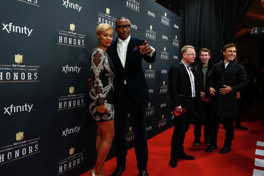 Chicago Bears player Brandon Marshall and his wife, Michi Nogami, walk the red carpet before the NFL Honors awards ceremony on Saturday, February 1, 2014 at Radio City Music Hall in New York City. Photo: JOSHUA TRUJILLO, SEATTLEPI.COM / SEATTLEPI.COM