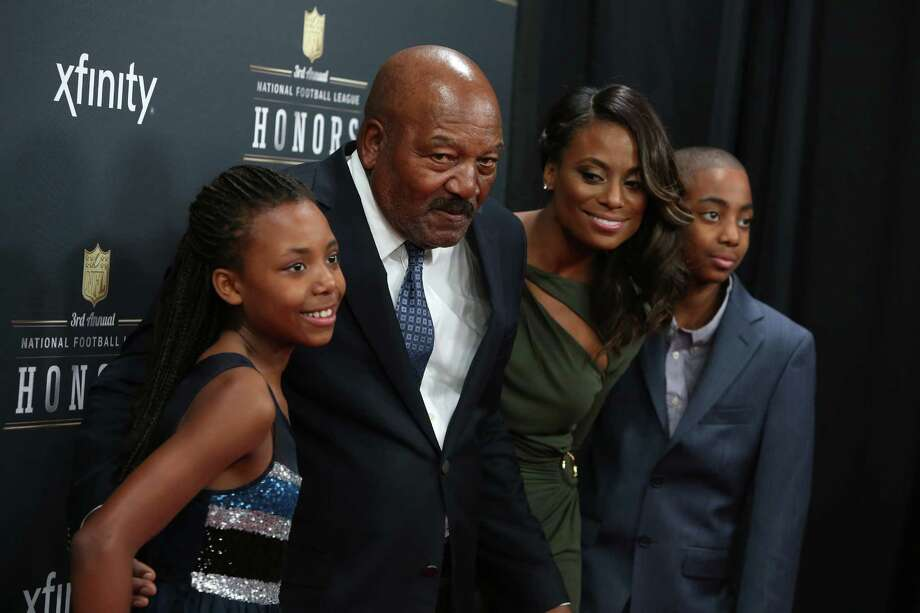 Football Hall of Famer and actor Jim Brown walks the red carpet with his family before the NFL Honors awards ceremony on Saturday, February 1, 2014 at Radio City Music Hall in New York City. Photo: JOSHUA TRUJILLO, SEATTLEPI.COM / SEATTLEPI.COM