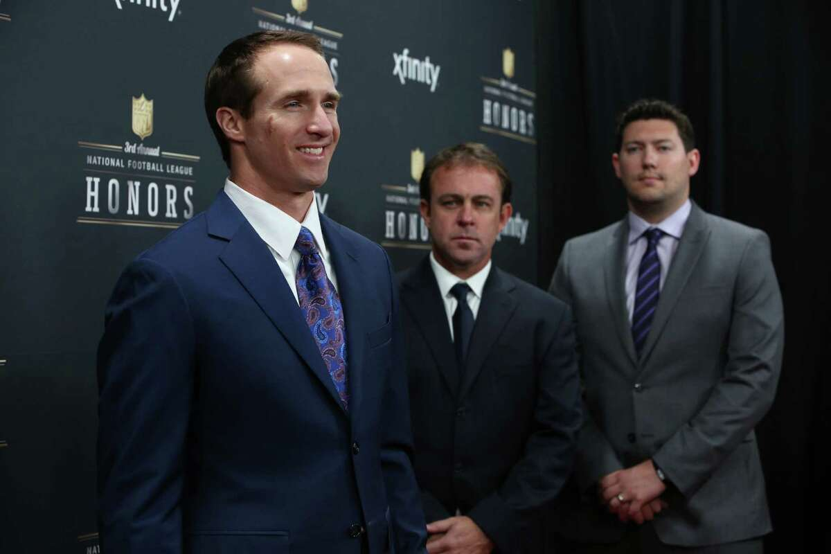 New Orleans Saints quarterback Drew Brees walks the red carpet before the NFL Honors awards ceremony on Saturday, February 1, 2014 at Radio City Music Hall in New York City.