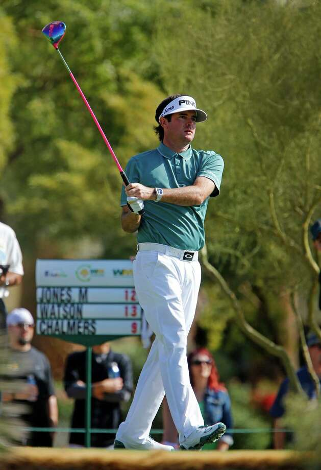 Bubba Watson hits off the fifth tee during the third round of the Phoenix Open golf tournament Saturday, Feb. 1, 2014, in Scottsdale, Ariz. (AP Photo/The Arizona Republic, David Kadlubowski )  MARICOPA COUNTY OUT; MAGS OUT; NO SALES ORG XMIT: AZPHP206 Photo: David Kadlubowski / The Arizona Republic