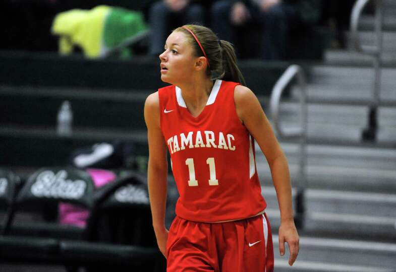 Tamarac's Jenna Erickson during their girl's high school basketball game against Shenendehowa on Sat
