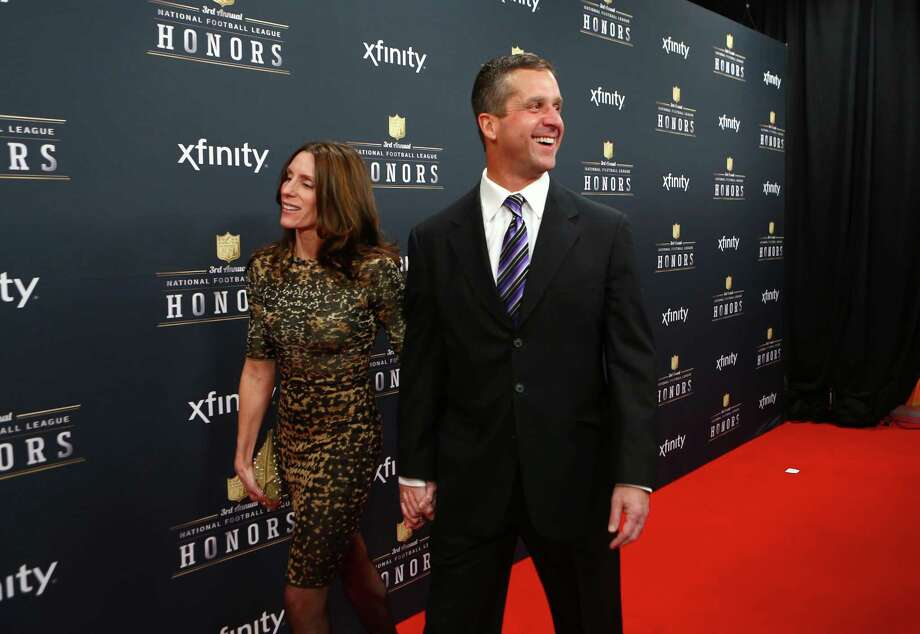 Baltimore Ravens coach John Harbaugh walks the red carpet before the NFL Honors awards ceremony on Saturday, February 1, 2014 at Radio City Music Hall in New York City. Photo: JOSHUA TRUJILLO, SEATTLEPI.COM / SEATTLEPI.COM