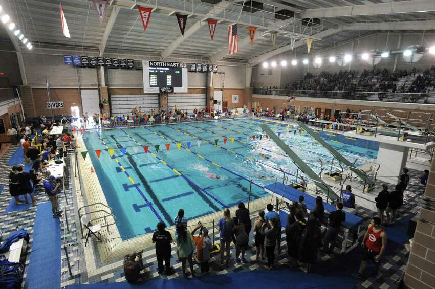 The Josh Davis Natatorium, which has a 4.5-star rating on Yelp, during the District 26-5A Swimming and Diving Championships in 2014.