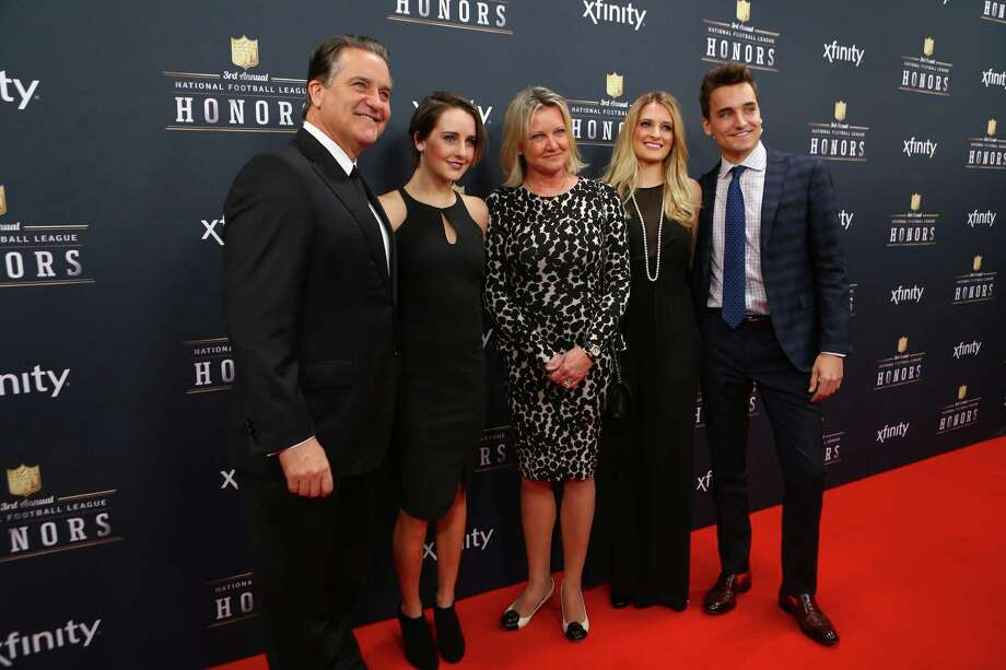 Former NFL coach Steve Mariucci walks the red carpet with his family before the NFL Honors awards ceremony on Saturday, February 1, 2014 at Radio City Music Hall in New York City. Photo: JOSHUA TRUJILLO, SEATTLEPI.COM / SEATTLEPI.COM