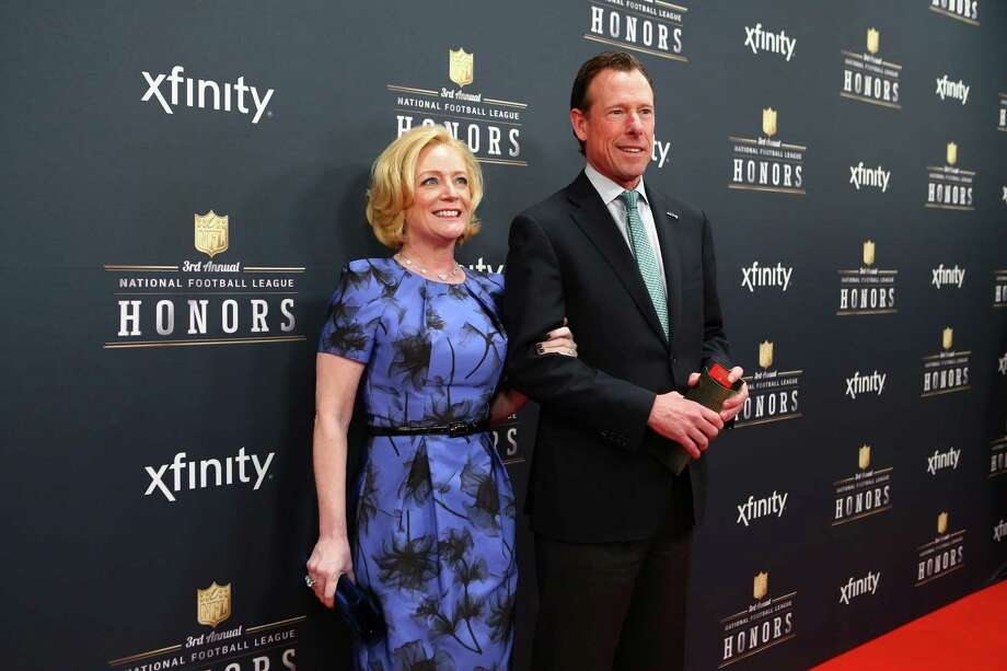 Seahawks President Peter McLoughlin walks the red carpet with his wife Kelly before the NFL Honors awards ceremony on Saturday, February 1, 2014 at Radio City Music Hall in New York City. Photo: JOSHUA TRUJILLO, SEATTLEPI.COM / SEATTLEPI.COM